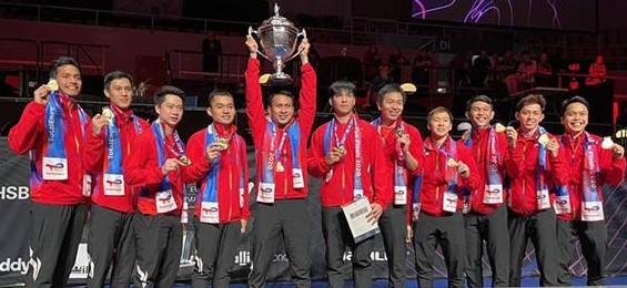 Penantian 19 tahun. Piala Thomas kembali pulang ke Indonesia